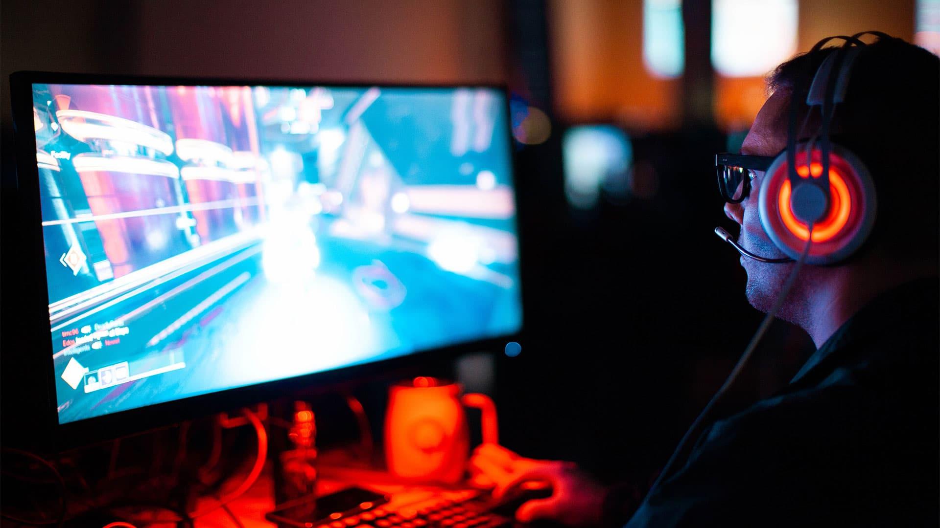image of man gaming