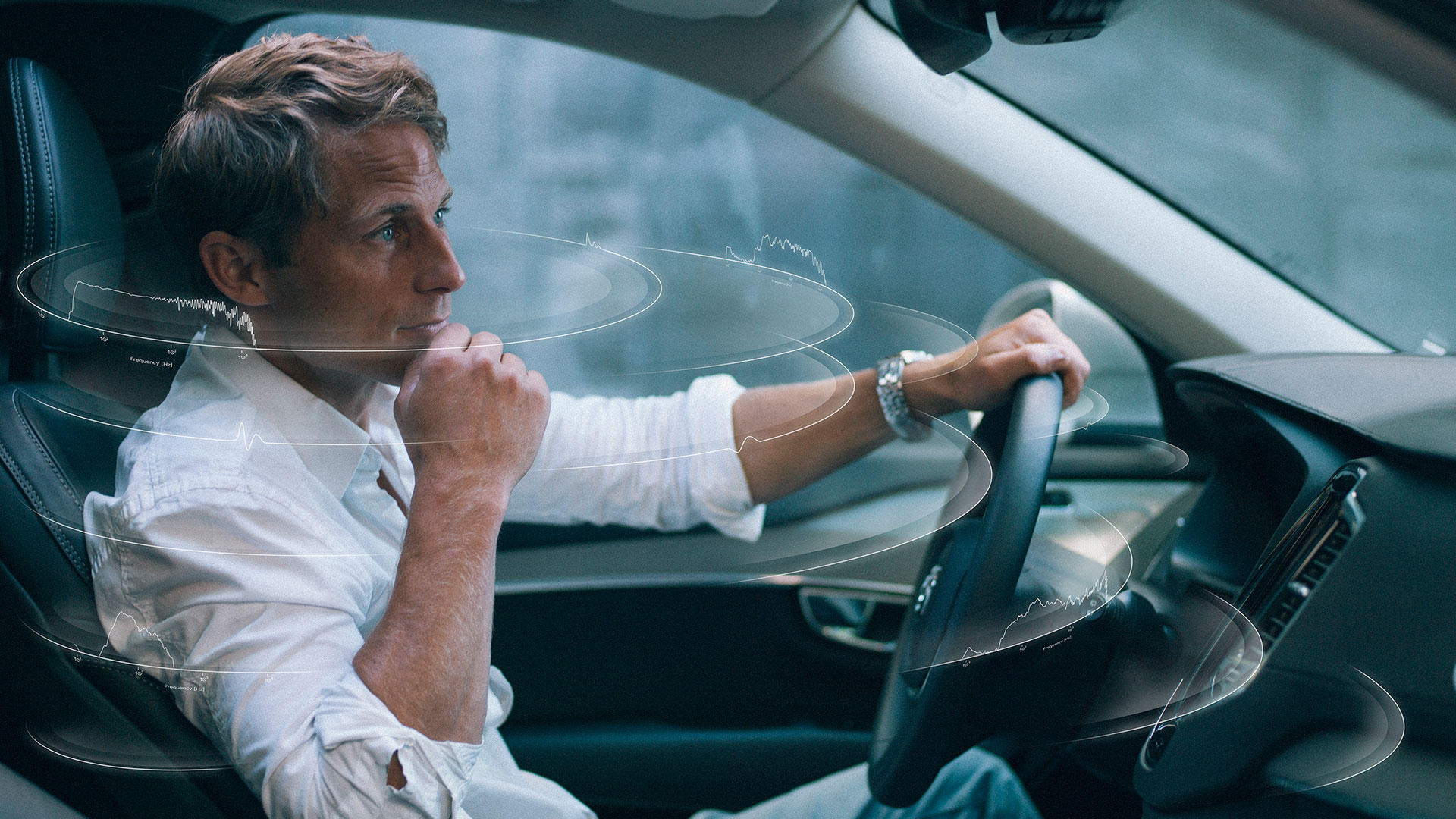 Image of man in car