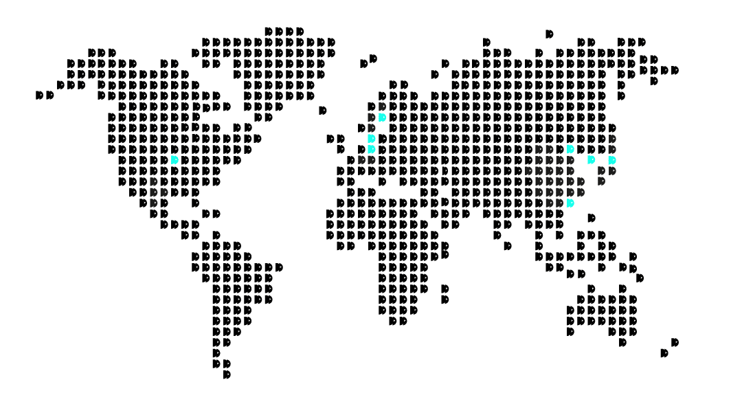 World map with Dirac´s headquarters in Sweden, Denmark, China, Germany, Japan, Korea, Taiwan, and USA.