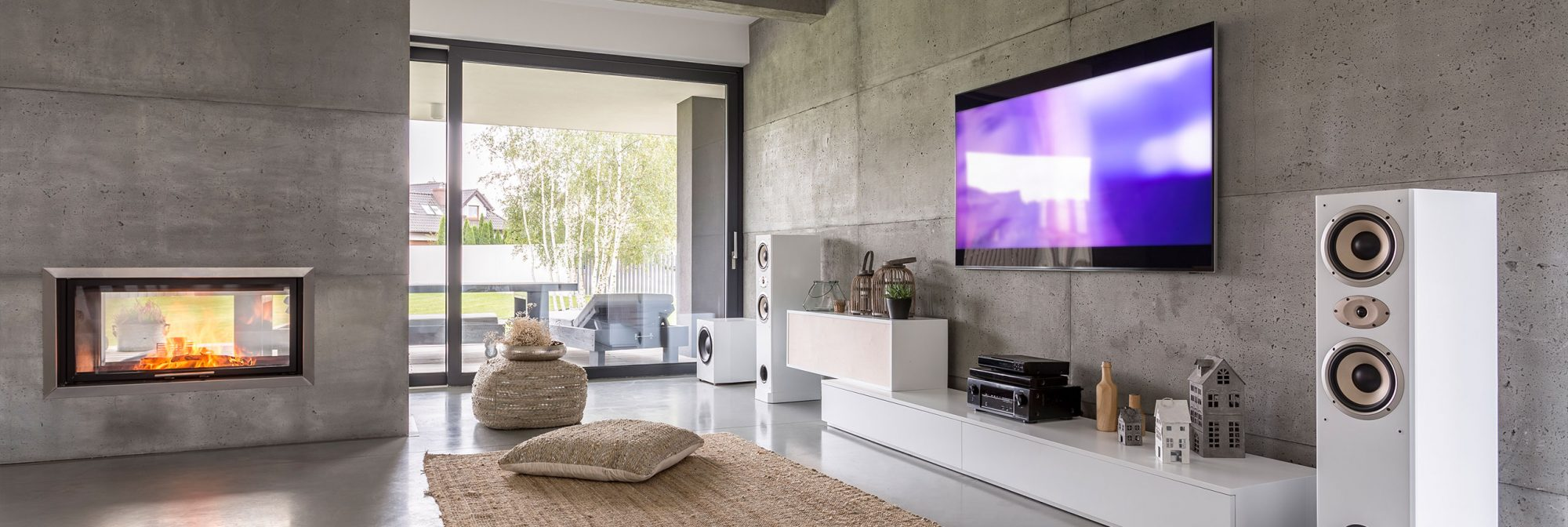 Image of living room with home audio