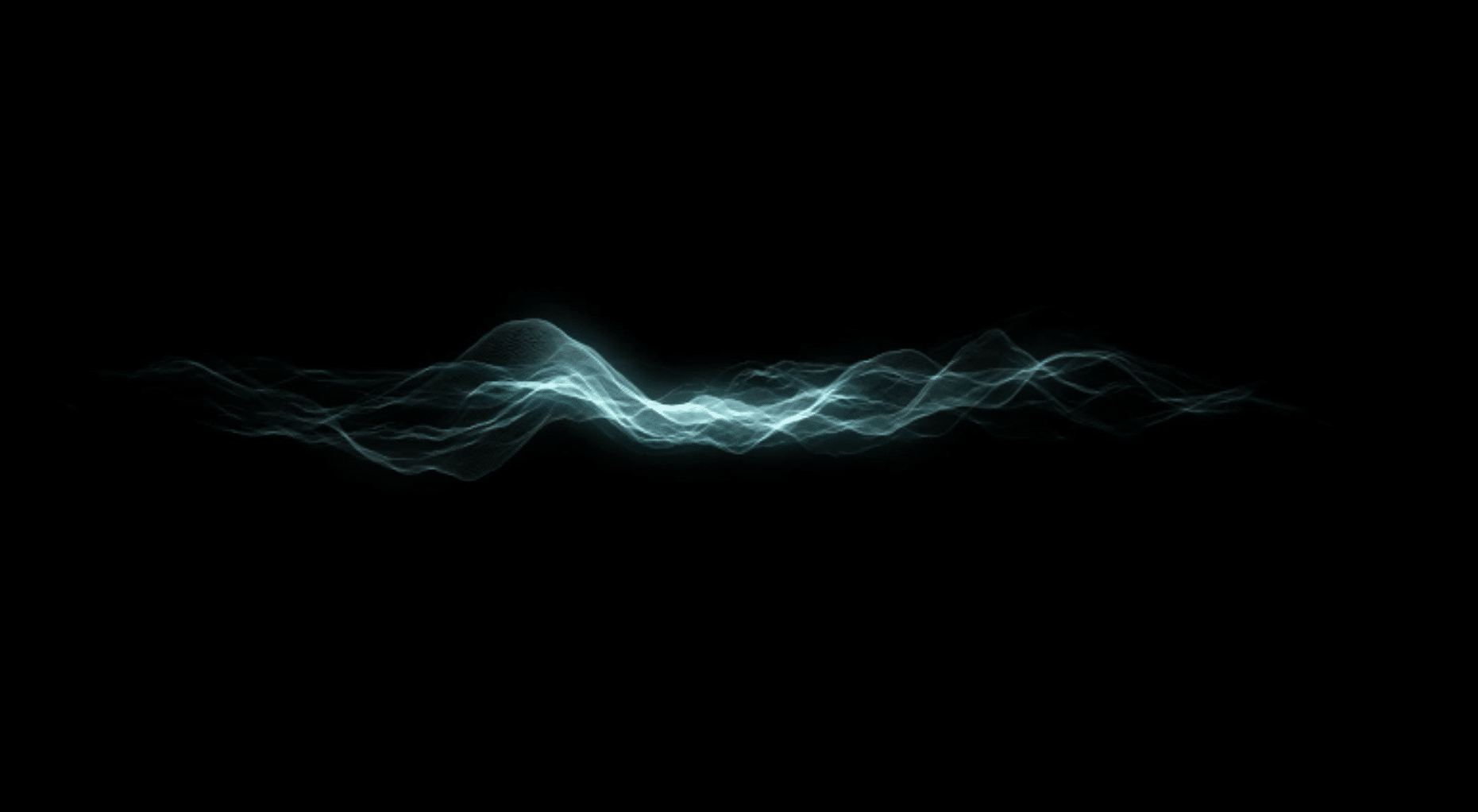 Image of a Sound wave. Starts a film about Dirac.